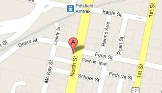 Map of Pittsfield, MA, branch at 99 North Street