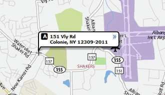 Map of Commnuity room at 151 Vly Rd. Colonie, NY 12309-2011