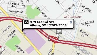 Map of community room at 979 Central Ave, Albany, NY 12205
